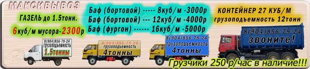Цены на недорогой вывоз мусора (строительного, бытового, крупногабаритного) в Санкт-Петербурге
