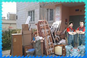 Пример вывоза мебели из квартиры СПб с грузчиками
