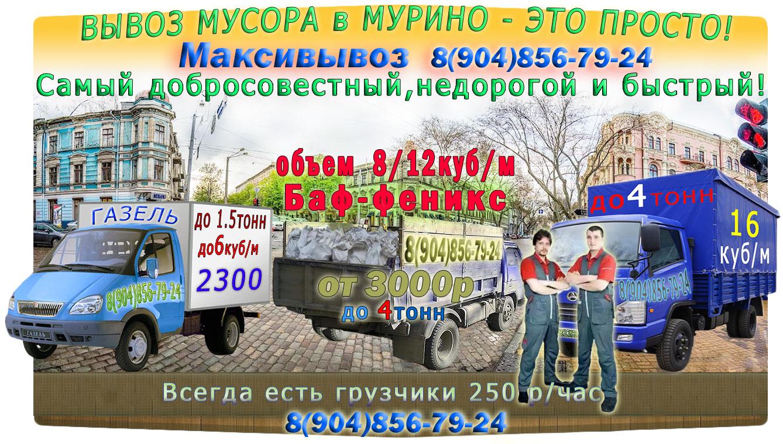 Вывоз мусора Мурино от компании Максивывоз
